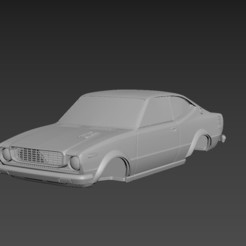 1.jpg Download STL file Toyota Corolla SR5 1976 Body For Print • Object to 3D print, Andrey_Bezrodny