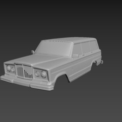 1.jpg Download STL file Jeep Grand Wagoneer 1963 Body For Print • 3D print design, Andrey_Bezrodny