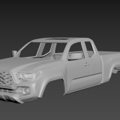 1.jpg Download STL file Toyota Tacoma 2020 Access Cab Body For Print • 3D printer template, Andrey_Bezrodny