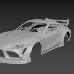 1.jpg Download STL file Toyota Supra 2020 Tuning  Body For Print • 3D print template, Andrey_Bezrodny