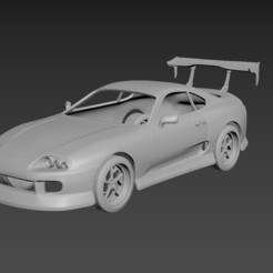 1.jpg Download STL file Toyota Supra 1993 Tuning Body For Print • 3D printer object, Andrey_Bezrodny