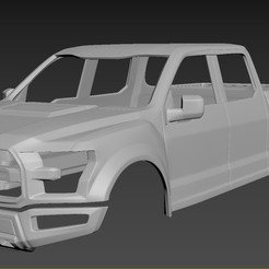 1.jpg Download STL file Ford F-150 Raptor Body for print • Template to 3D print, Andrey_Bezrodny