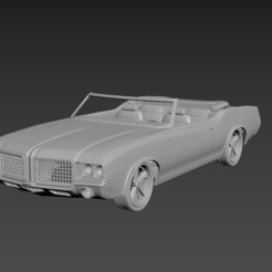 1.jpg Download STL file Oldsmobile Cutlass Convertible 1972 For Print • Design to 3D print, Andrey_Bezrodny