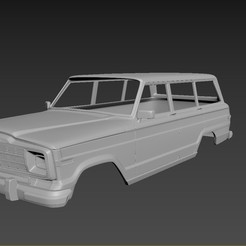 1.jpg Download STL file Jeep Grand Wagoneer 1991 • 3D printing template, Andrey_Bezrodny