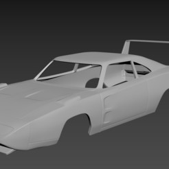 1.jpg Download STL file Dodge Charger Daytona 1969 Body for print • Template to 3D print, Andrey_Bezrodny