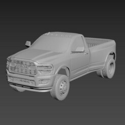 1.jpg Download STL file Dodge Ram 3500 2020 Regular Cab • 3D printer template, Andrey_Bezrodny