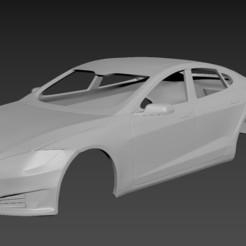 1.jpg Download STL file Tesla Model S Body for print • 3D printing design, Andrey_Bezrodny