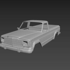 1.jpg Download STL file Jeep J10 1986 Body For Print • 3D printable template, Andrey_Bezrodny
