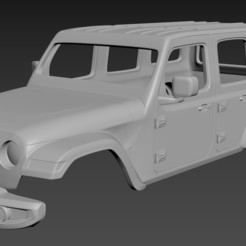 Descargar archivo 3D Jeep Wrangler Unlimited 2019 Body for print, Andrey_Bezrodny