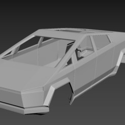 1.jpg Download STL file Tesla CyberTruck Body for print • 3D printing object, Andrey_Bezrodny