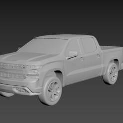 1.jpg Télécharger fichier STL La Chevrolet Silverado 2020 à petite échelle • Objet pour imprimante 3D, Andrey_Bezrodny