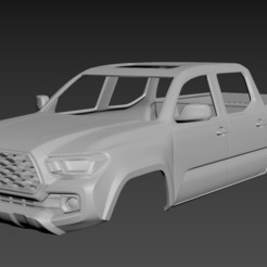 1.jpg Download STL file Toyota Tacoma 2020 Body For Print • 3D printer template, Andrey_Bezrodny