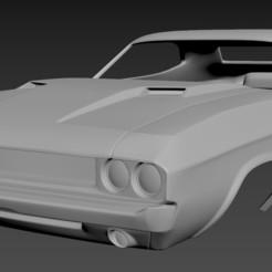 1.jpg Download STL file Dodge Challenger 1970 Body for print • 3D printing design, Andrey_Bezrodny
