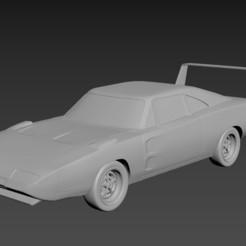 1.jpg Download STL file Dodge Charger Daytona 1969 • 3D printer object, Andrey_Bezrodny