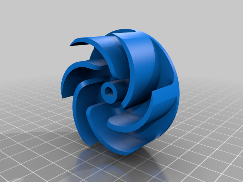 Turbine4.png Download free STL file Water Pump With 4 Different Turbines - TESTING AND BUILDING VIDEO • 3D printable model, LetsPrintYT