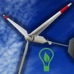 Download free STL files Wind turbine for 775 engine, LetsPrintYT
