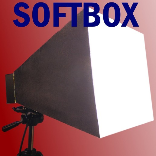Download free 3D printing designs Softbox for photography - 2x E27 bulb, LetsPrintYT