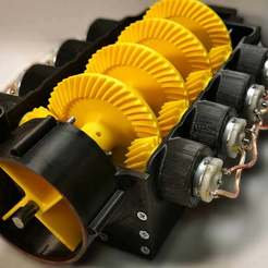 Download free STL file Gearbox for 8 motors • 3D printing design, LetsPrintYT