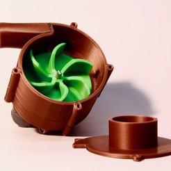 Télécharger fichier imprimante 3D gratuit Pompe à eau à double moteur, LetsPrintYT