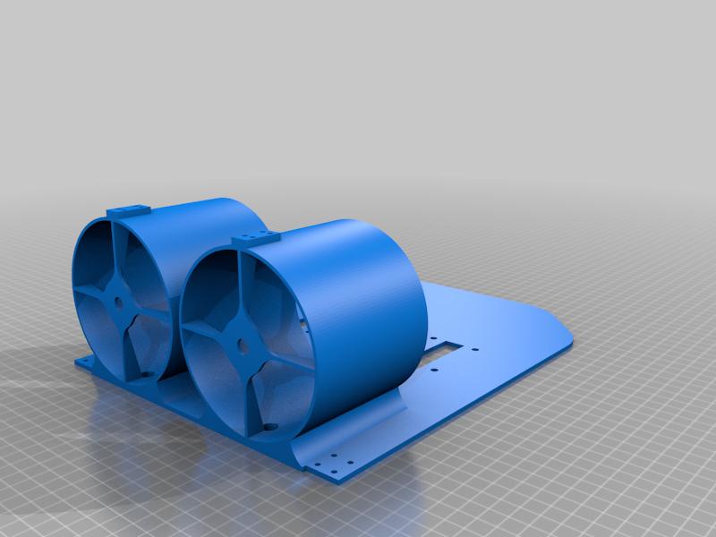 Airboat_Body.png Télécharger fichier STL gratuit Bateau à moteur RC - Deux moteurs de soufflerie • Design pour imprimante 3D, LetsPrintYT