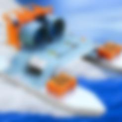 Leg_big.stl Télécharger fichier STL gratuit Bateau à moteur RC - Deux moteurs de soufflerie • Design pour imprimante 3D, LetsPrintYT