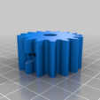 bolttrought2.png Download free STL file 4 ways to attach gears to the shaft (example gears) • Object to 3D print, LetsPrintYT