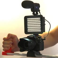 Télécharger fichier STL gratuit Lumière d'enregistrement et stabilisateur de poche - Gadget pour appareil photo • Design pour impression 3D, LetsPrintYT