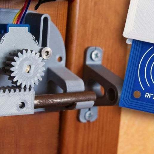 123444.jpg Download free STL file Door lock with Arduino (Let's Print Youtube Channel) • 3D printable object, LetsPrintYT