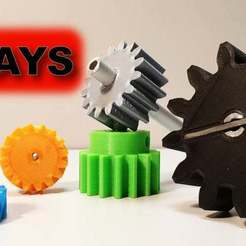 Download free 3D printing designs 4 ways to attach gears to the shaft (example gears), LetsPrintYT