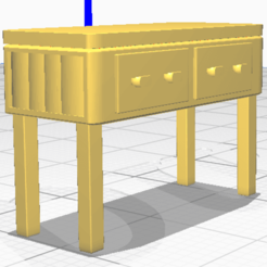 Download free 3D printing templates Furniture miniature, alexpocholo