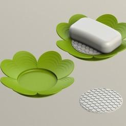TREBOL_JABONERA.JPG Télécharger fichier STL gratuit COUVERTURE DE SAVON • Design pour impression 3D, DIAGUILAR9084