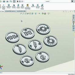 AMULETOS 001 SOLIDWORKS.jpg Download STL file AMULETS I SAID, BRACELET. • 3D print design, DIAGUILAR9084