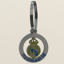 REALMADRID.JPG Download free STL file REALMADRID KEY RING • 3D printer design, DIAGUILAR9084