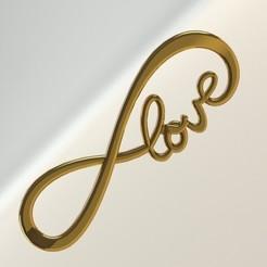 PLACA INFINITO LOVE.JPG Télécharger fichier STL L'ASSIETTE DE L'AMOUR INFINI • Modèle imprimable en 3D, DIAGUILAR9084
