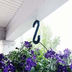 A01696A8-5A20-4D8A-BE1F-C09C4FEA1EA2.JPG Download free STL file Simple Garden Hook • 3D printer object, tylerbrunstein