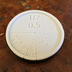Download free STL Easy as Pie Fractions, 3DPrint2