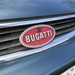 Descargar archivos STL gratis Logotipo del coche Bugatti, 3DPrint2