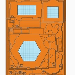 1.jpg Download STL file Insert for Gloomhaven map tiles • 3D printing design, aivin