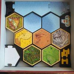 rys1.jpg Download STL file Catan - Organizer - Two big expansions in one box 3D print model • 3D printable template, aivin