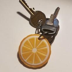 Download 3D printer model Lemon Slice Keychain MULTICOLOR (PRINTABLE WITH NORMAL 3D PRINTERS), MrCresc