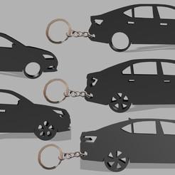 Skoda-pack.jpg Download STL file Skoda Keychain Car Pack 1 • 3D printable design, Block
