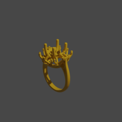 Download 3D printing models big diamond ring, 3DFuture