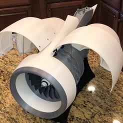 Descargar archivos 3D gratis Nacela de motor de alto bypass, RTWILEYRC