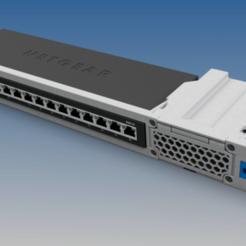 NG-GS318_RACK_ASSY.png Télécharger fichier STL gratuit Rack Netgear GS316/GS116 • Objet pour impression 3D, RTWILEYRC