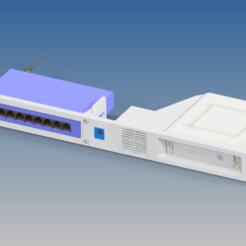 RA-SB6190-SG108-01_ARRIS_SB6190_WITH_TP-LINK_SG108_ASSY.png Télécharger fichier STL gratuit Arris SB6190 et TL-SG108 Montage en rack - Refroidi par ventilateur (STEP) • Modèle imprimable en 3D, RTWILEYRC
