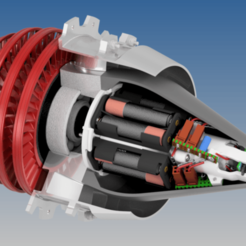 Descargar diseños 3D gratis Nacela motorizada de alto bypass, RTWILEYRC