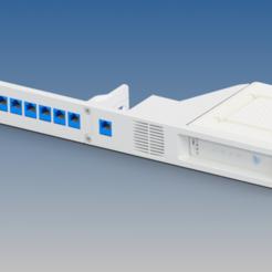 RA-SB6190-PP09-01_ARRIS_SB6190_RENDER.png Télécharger fichier STL gratuit Arris SB6190 Rack Mount - Refroidi par ventilateur • Modèle pour imprimante 3D, RTWILEYRC