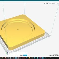 BASE.jpg Télécharger fichier STL PLATEAU TOURNANT SIMPLE POUR LES MECHS -V1- • Objet pour impression 3D, guilleabm83