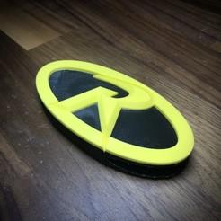 IMG_7486.jpg Download STL file Robin Logo Belt Buckle • 3D printing template, superherodiy