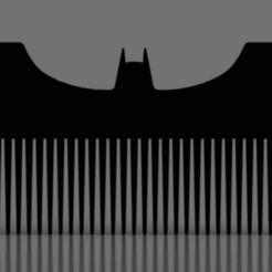 Snag_654e910.png Download STL file TDK Batarang Comb • 3D printer object, superherodiy